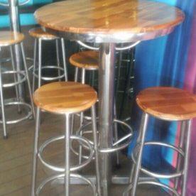 Thanh lý bộ bàn ghế bar inox