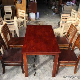 Bàn ghế gỗ nhà hàng giá rẻ - Bàn ghế gỗ nhà hàng giá rẻ