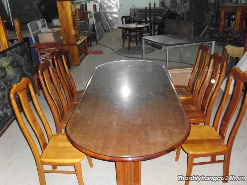 Thanh lý bàn ghế ăn gỗ xoan đào 6 ghế