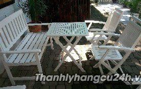 Thanh lý bàn ghế cafe trắng