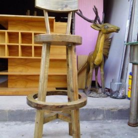 Thanh lý ghế gỗ cao lưng tựa
