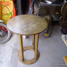 Thanh lý bàn gỗ tròn cafe