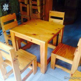 Thanh lý bàn ghế cafe gỗ cũ